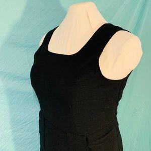 TALL GIRL Black Belted sleeveless jumper dress 18